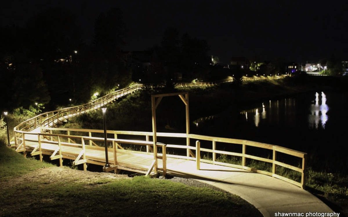Lit Boardwalk and Trail